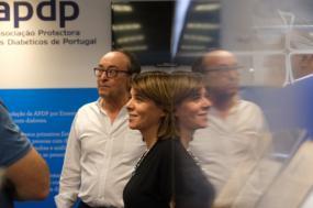 Catarina Martins e Jsé Manuel Boavida, presidente da APDP - Foto de Paula Nunes