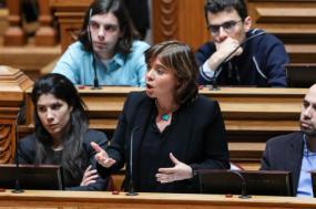 Catarina Martins no parlamento