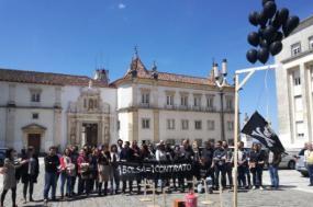 Protesto de bolseiros em Coimbra - Foto João Pedro Ferreira/ABIC