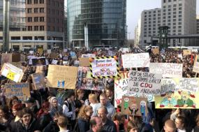 Protesto em Berlim, 23 de março de 2019 – foto retirada do twitter D3 Direitos Digitais