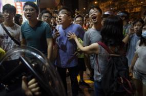 Protestos na zona de Taikoo, Hong Kong, 11 de agosto de 2019. Foto: Miguel Candela/EPA/Lusa.
