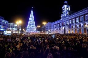 Manifestação contra a violência contra mulheres em Madrid. Novembro de 2019.