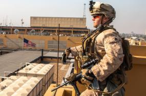 Exército americano na Embaixada em Bagdade. Janeiro de 2020.