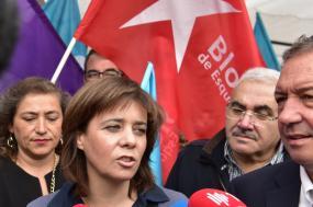 """Para Catarina Martins, o Bloco é a melhor resposta à """"alternância e rotativismo que tem existido nas forças políticas"""" a nível autárquico, com soluções """"presidencialistas"""" e muitas vezes """"clientar, pouco transparente""""."""