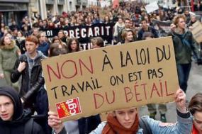 Paris 31 de Março. Movimento estudantil e sindical associados