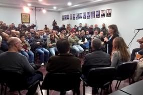 Catarina Martins na Assembleia de Trabalhadores. Foto esquerda.net