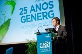 Imagem do ex-ministro do Ambiente de Portugal, Jorge Moreira da Silva, na conferência 25 Anos GENERG. (Youtube Grupo Generg)