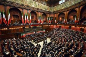 Sessão parlamentar de juramento do presidente italiano Sergio Matarella, fevereiro de 2015. Foto: Presidenza della Repubblica/Wikimedia Commons.