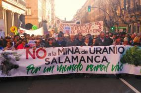 Manifestação deste sábado, em Salamanca, juntou cerca de 3 mil pessoas, do Estado espanhol e também de Portugal.Foto de Romão Ramos.
