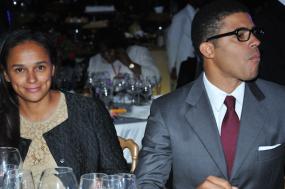 Isabel dos Santos com o seu marido Sindika Dokolo. Fonte: Maka Angola.