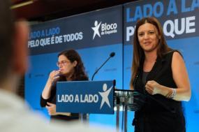 Marisa Matias em comício em Aveiro. Foto de Paula Nunes.