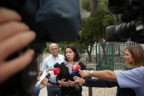 Joana Mortágua no Liceu Passos Manuel, por Tiago Petinga/Lusa.