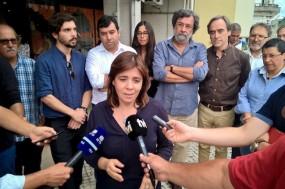Catarina Martins com Andrej Kowalski e Manuel Azenha.