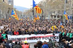 Manifestação em Barcelona - Foto Assembleia Nacional Catalã/Twitter