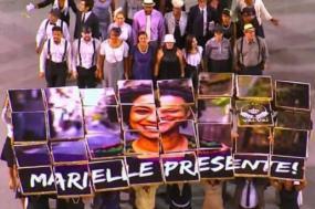 Homenagem a Marielle feita pela Vai-Vai