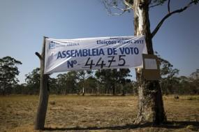 Mesa de Voto para as eleições gerais de Angola. Foto de Manuel de Almeida, Agência Lusa.