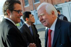 Em 2013, Álvaro Santos Pereira, então ministro da Economia, admitiu que a saída de Henrique Gomes do Governo foi festejada por Mexia e Catroga. Foto Miguel A. Lopes/Lusa (arquivo)