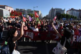 Manifestação do 1º de Maio de 2019. Foto de Paula Nunes.