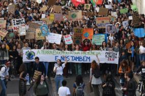 Manifestação da Greve Climática Estudantil em Lisboa, 15 de março de 2019. Foto de Paula Nunes.
