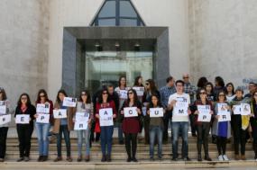 Protesto de investigadores e docentes na Universidade do Algarve – Foto de Luís Forra/Lusa