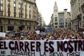 Protesto Indignados em Barcelona, foto de Marta Perez, EPA/Lusa