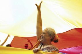 Regina Guimarães na MOP. Fotografia de Estela Silva, Agência Lusa