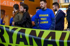 Greve na Ryanair, Airporto Bruxelas Charleroi, 28 de setembro de 2018 – Foto de Olivier Hoslet