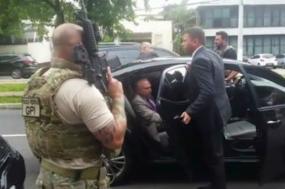 Prisão do ex-presidente Michel Temer. Foto reprodução da TV Globo