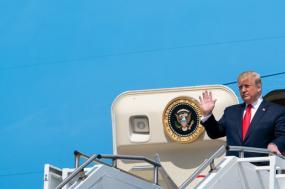 Trump no avião