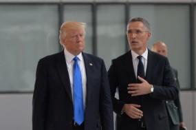 Donald Trump com o Secretário-Geral da NATO, Jens Stoltenberg
