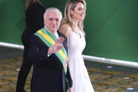 Temer no dia em que passou a faixa presidencial a Bolsonaro. Foto de Valter Campanolo, agência Brasil.