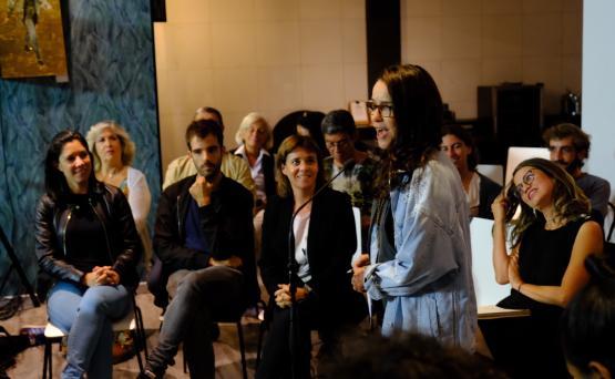 Conversa sobre a Amazónia na Casa Ninja, em Lisboa. Foto de Paula Nunes.