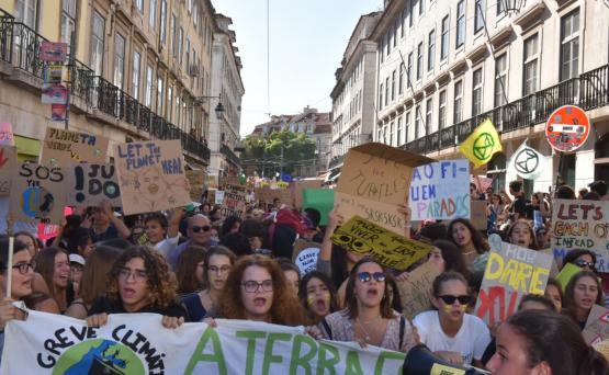 Greve Climática em Lisboa. Foto de Inês Ferreira.