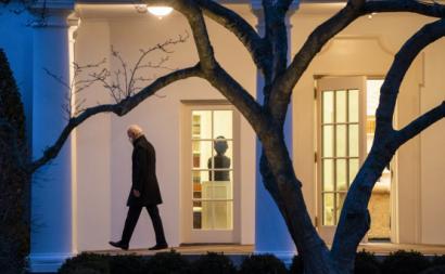Joe Biden na Casa Branca. Fotógrafo: Kevin Dietsch/UPI/Bloomberg
