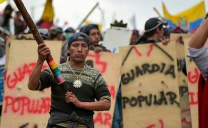 O movimento indígena equatoriano tornou-se a coluna vertebral das mobilizações em repúdio ao plano económico neoliberal do governo de Lenin Moreno – Fotos de Silvia Arana