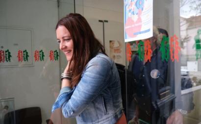 Marisa Matias na USF Cruz de Celas. Foto de Paula Nunes.