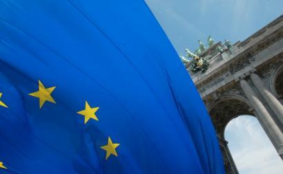 Bandeira da União Europeia. Foto de Rock Cohen /Flickr.
