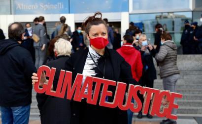 Marisa Matias em defesa da justiça climática. Outubro de 2020. Foto de Sérgio Aires.