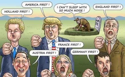 A extrema direita reacionária, autoritária e / ou fascista tem estado em ascensão em todo o mundo e já governa metade dos países do mundo