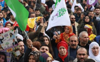 Manifestação do HDP. Foto ANF News.