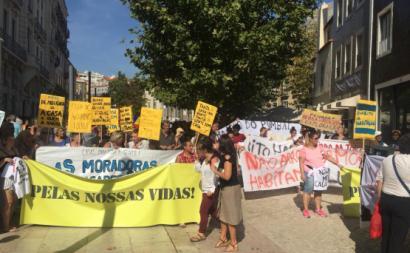 Manifestação pelo direito à habitação, setembro de 2018, Lisboa. Foto esquerda.net.