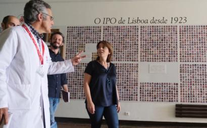 Catarina Martins no IPO Lisboa.