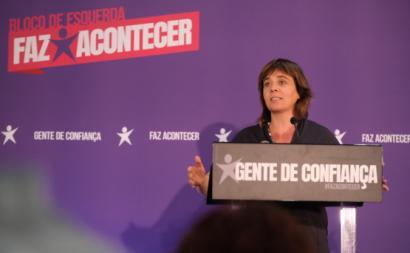Catarina Martins em jantar de campanha na Quarteira, 25 de setembro de 2019. Foto: esquerda.net.