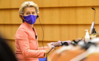 Ursula von der Leyen no debate do Estado da União