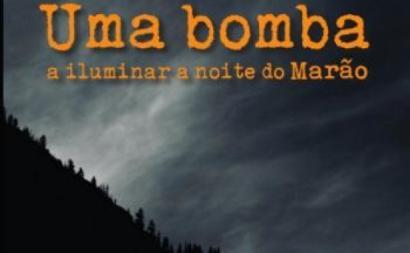 Capa do livro Uma bomba a iluminar a noite do Marão.