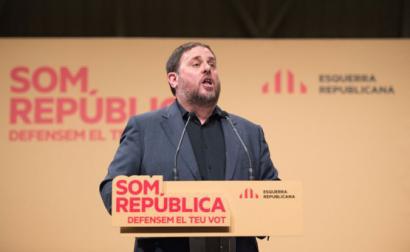 Oriol Junqueras num comício em 2014.