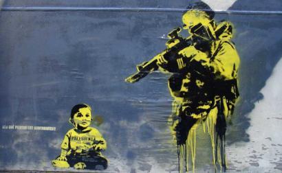 Mural sobre a causa palestiniana. Foto de noaz./Flickr.