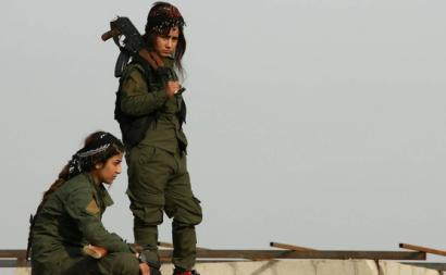 Combatentes curdas do YPG. Síria. Março de 2018.