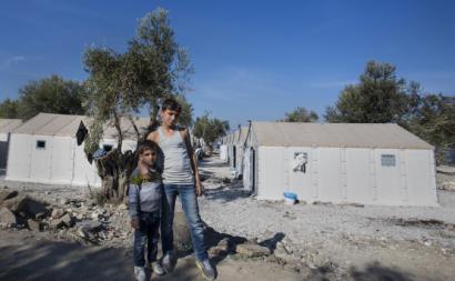 Crianças sírias refugiadas na Grécia. Novembro de 2015.