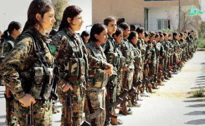 Combatentes curdas do YPG. Síria. Abril de 2016.